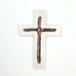 Krzyż ceramiczny GŁĘBIA jasna