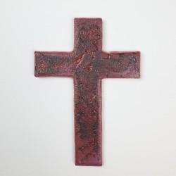 Krzyż ceramiczny CZERWIEŃ