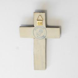 Krzyż ceramiczny z liliami