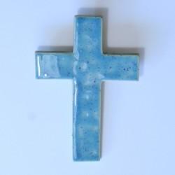 Krzyż ceramiczny kłos marmurek