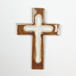 Krzyż ceramiczny GŁĘBIA miód
